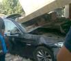 જામનગર: ટ્રિપલ અકસ્માતમાં BMWનો કચ્ચરઘાણ, એરબેગ ખૂલતા યુવકોનો જીવ બચ્યો
